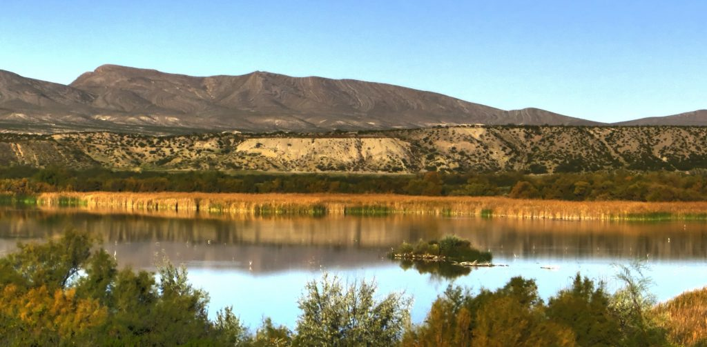 Elephant Butte in New Mexico during a clear day
